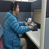 客服人員接聽電話服務情境